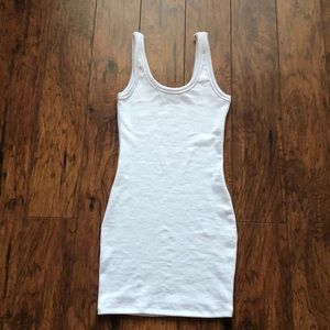 Fashion Nova white ribbed tank dress